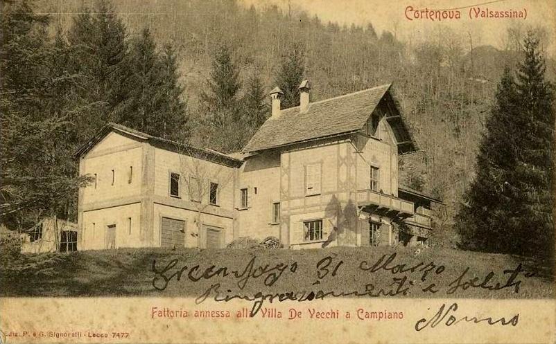 Villa de vecchi 2 la casa del custode for Vecchi piani di casa artigiano
