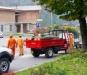 Infaticabili volontari della Protezione Civile a Cortenova