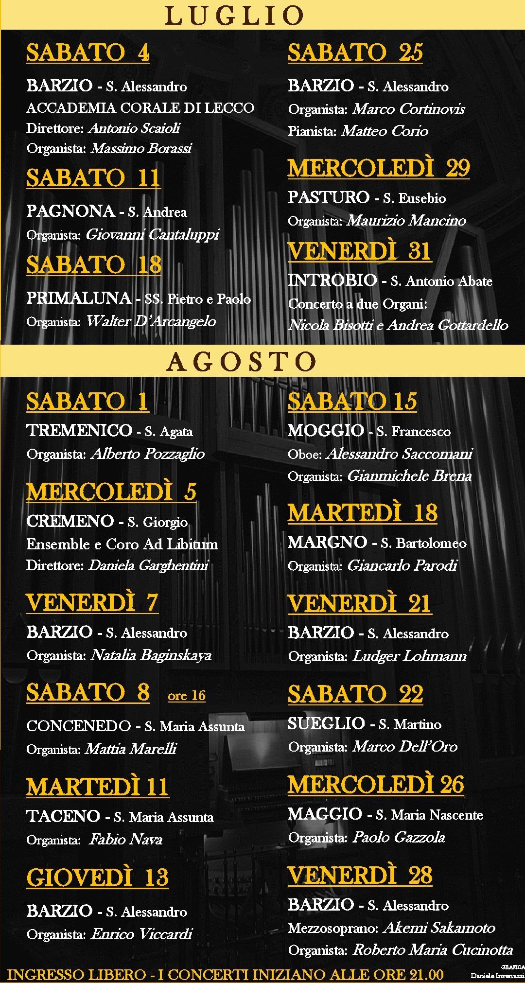 2015 RASSEGNA Organ calendario