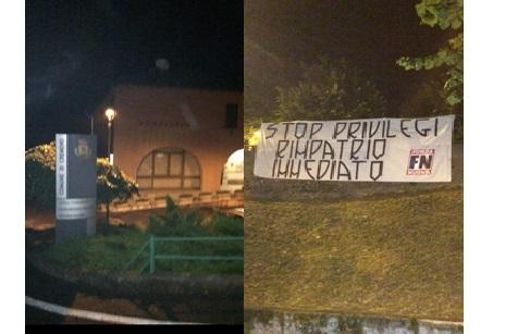 FORZA NUOVA STRISCIONE CREMENO