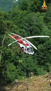 elicottero soccorso vendrogno