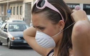ozono inquinamento mascherina