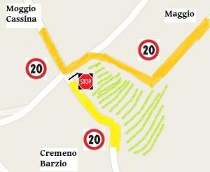 voragine mappa strada 2 viabilità