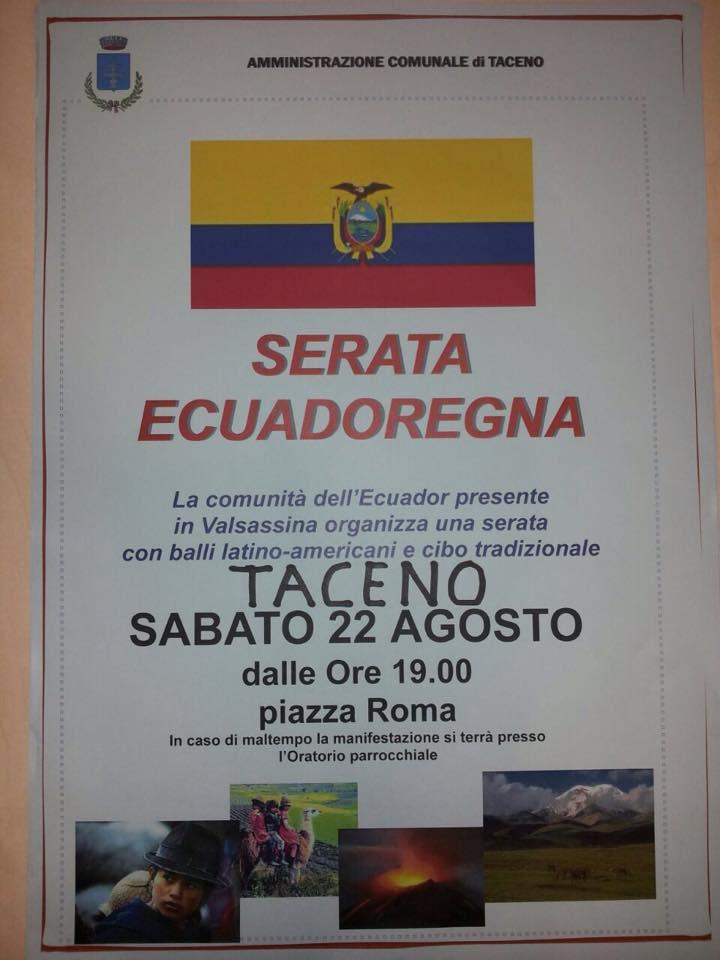 festa ecuador taceno