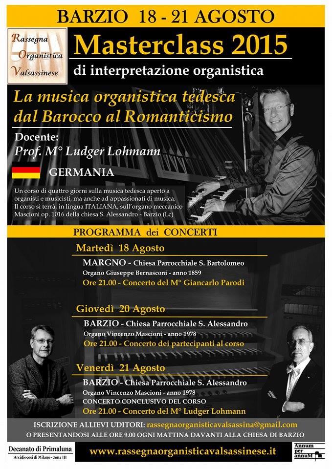 rassegna organistica masterclass lohmann loc concerti