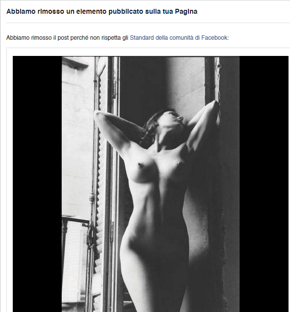 facebook censura fascino nudo