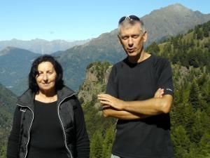 Pina Scarpa (Sindaco di Casargo) e Lello Bonelli (Presidente WWF Lecco)