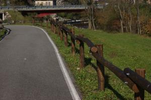 I legni sostituiti ad inizio della pista