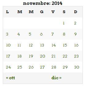 novembre 14 agenda