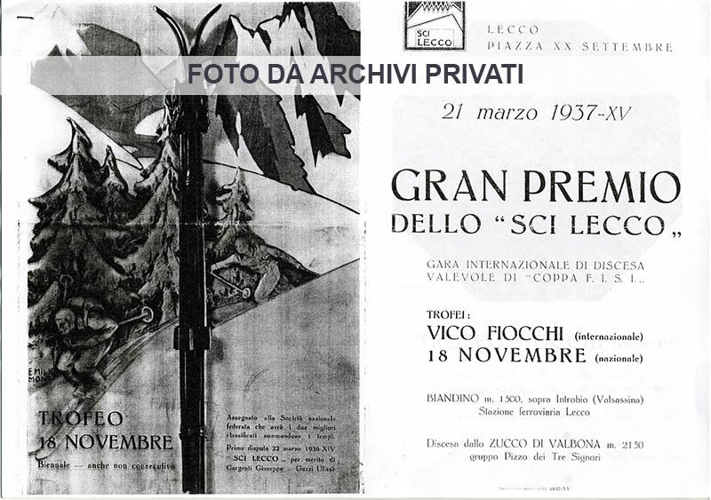 3 Lecco 24-03-1937 - Gran Premio dello sci
