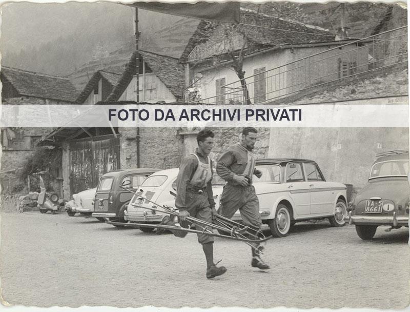5 Bognanco 14-04-1960 - atleti valsassinesi in trasferta per gare