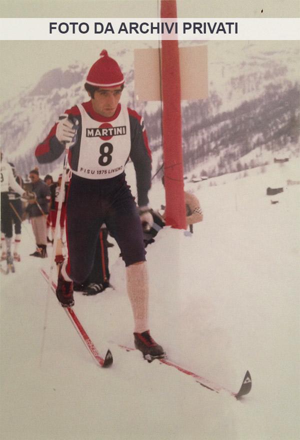 7 Livigno 6-13 aprile 1975 - Giacomo Camozzini ai Campionati Mondiali Universitari di Sci