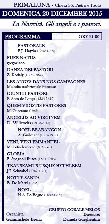 rassegna organistica coro melos programma