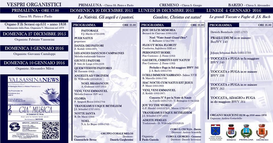 rassegna organistica invernale 1