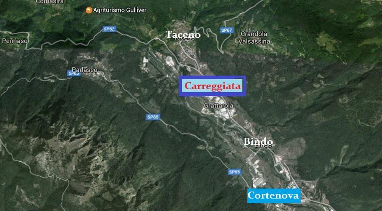 CARREGGIATA tra Cortenova e Taceno