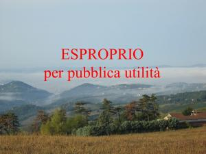 ESPROPRIO PUBBLICA UTILITA