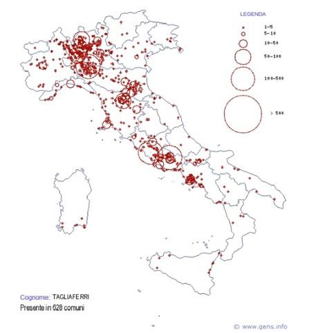 TAGLIAFERRI MAP