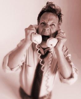 telefonata rabbia