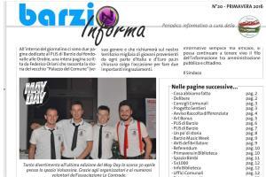BARZIO INFORMA PRIMAVERA 16
