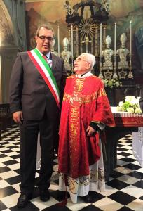 PADRE ANGELO GIANOLA 70MO SACERDOZIO E SINDACO FAZZINI PREMANA
