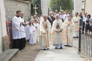 SAN ROCCO PROCESSIONE 2016 benedizione taglio del nastro_camminamento Via Crucis