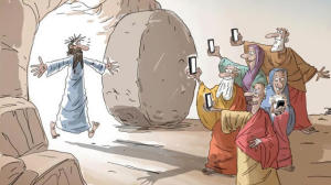 jesus gesù prechiere religione smarphone tecnologia