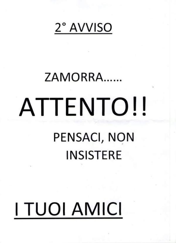 ZAMORRA AVVISO