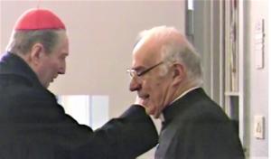 cardinal martini e don luigi melesi a san vittore