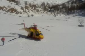 elicottero elisoccorso neve