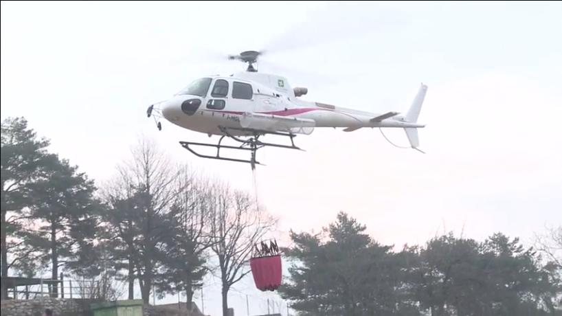 Elicottero Arancione : Meteo rischio incendi È sempre codice arancio