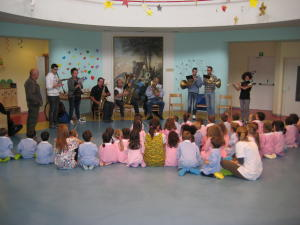 ASILO barzio banda laboratorio strumenti musicali