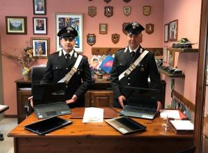 CARABINIERI PC INTROBIO RUBATI