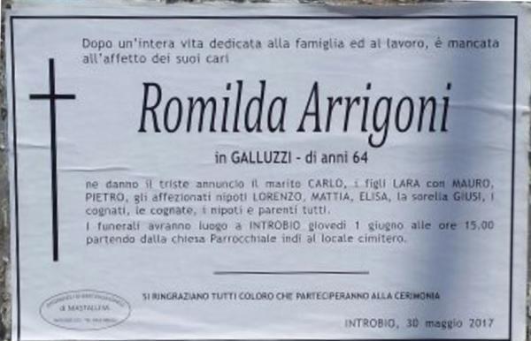 romilda arrigoni epigrafe