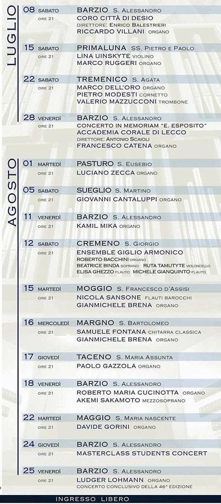 rassegna organistica 2017 calendario