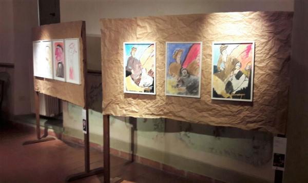 faccia a faccia - quadri Roberto Arrigoni - artimedia barzio (5)