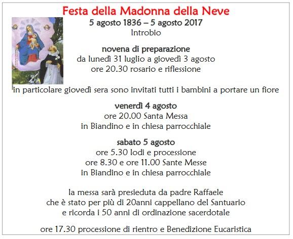 181 anni Madonna di Biandino 2017