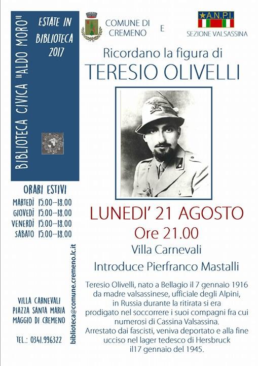 Storia maggio ospita una serata su teresio olivelli l for Una storia ospita vicino a me