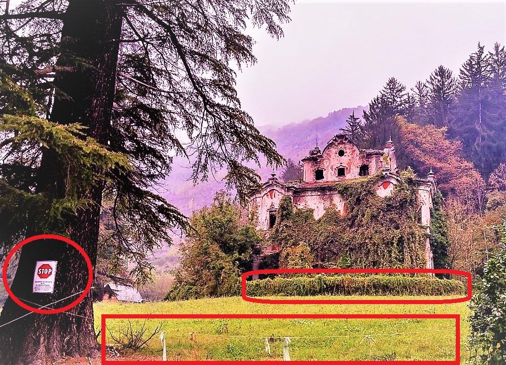 Villa de vecchi privata vietata e recintata for Vecchi piani di casa artigiano