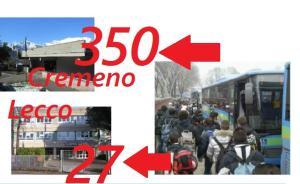 COSTI STUDENTI MEDIE BALLABIO 350 A CREMENO 27 A LECCO