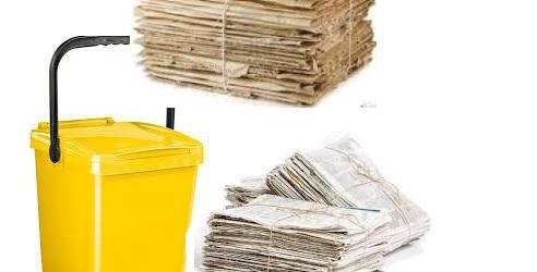 bidone giallo carta cartone COP
