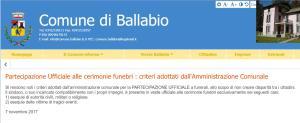 SCUSE POSTUME FUNERALI COMUNE BALLABIO