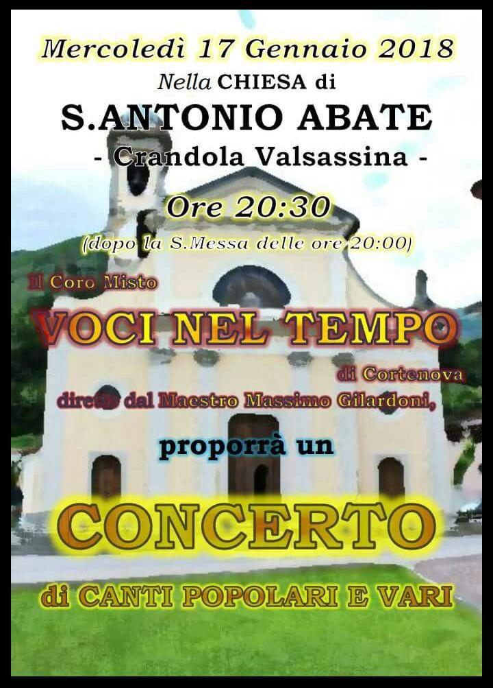 Creandola concerto sant'Antonio