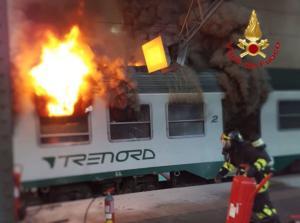 incendio treno milano centrale