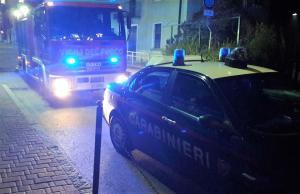 ballabio barricato via mazzini - carabinieri pompieri (2)