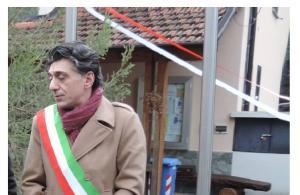 CESARE GALLI fascia sindaco