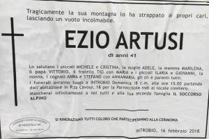 NECROLOGIA EZIO ARTUSI
