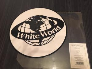 WHITE world logo
