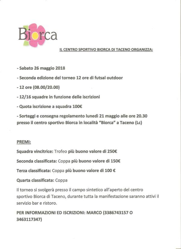 Futsal Biorca 2018