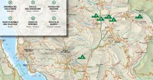 cartina falesie lecchesi itinerario regione lombardia alpinisti arrampicata sportiva