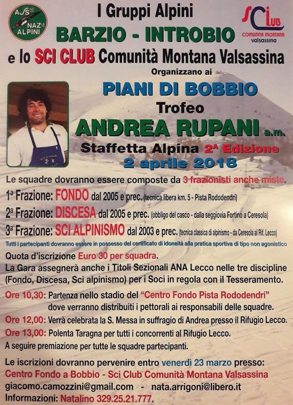 staffetta alpina andrea rupani 2018